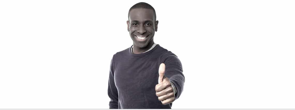 Smiling Man with Thumbs Up